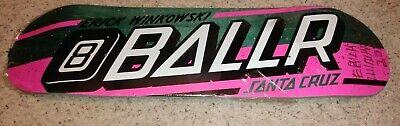 Autographed Santa Cruz Erick Winkowski 8 ballr strip Skateboard deck 8.25