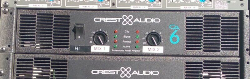 CREST AUDIO CA6 POWER AMPLIFIER-CA 6-TESTED-NICE!!-1500W (750WPC@2ohms) 1 OF 2