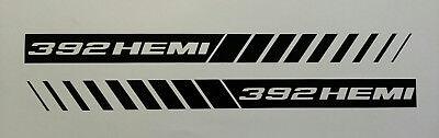 392 HEMI STROBE STRIPES ** HOOD DECALS ** MOPAR * DODGE RAM 5.7 CHARGER SRT8