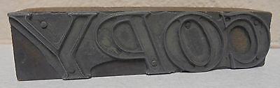 Vintage Copy Letterpress Printing Block Metal Wood