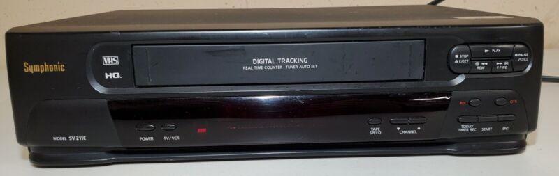 Symphonic SV211E VCR VHS HQ Player Video Cassette Recorder Tested