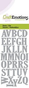 Craft Emotions Cutting Dies - Alphabet Uppercase - 0163 - New