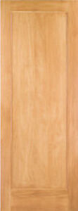 1 Panel Flat Mission Shaker Stain Grade Pine Solid Core Interior Wood Doors