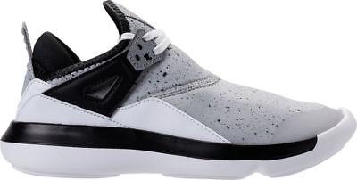 NEW Youth NIKE JORDAN FLY '89 sz 7Y GRAY Black White Running Shoes
