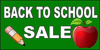 Back To School Stores (Back To School Sale Advertisement DECAL STICKER Retail Store)