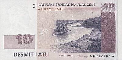 Lettland / Latvia 10 Latu 2008 Pick 54 (1)