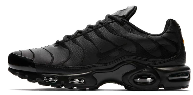 Nike Air Max Plus TN 'Triple Black' Leather AJ2029 001 Men
