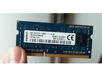 Kingston 4GB DDR3 Laptop RAM 1333mhz