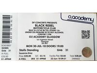 1x Black Rebel Motorcycle Club BRMC Glasgow 30/07/18 £25