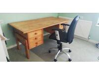Large Desk & Chair