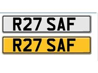 R27 SAF Number Plate