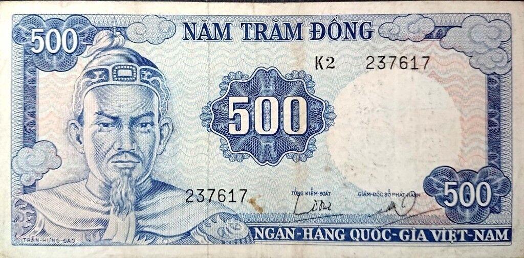 B00117 Viet Nam 500 Tram Dong 1966 Banknote
