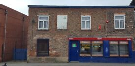 SHOP WITH LARGE FRONT & 5 BED ROOMS FOR SALE
