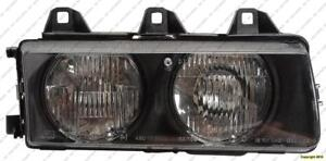 Head Lamp Passenger Side Sedan 92-98 BMW 3-Series (E36) 1992-1998