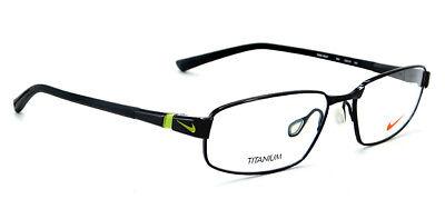 New Nike Titanium Rx Eyeglasses | 6057 005 - Black Volt / Clear Demo Lens