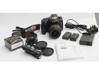 Sony Alpha SLT-A65 VK 24.3 MP DSLR Camera Black DT 18-55mm F
