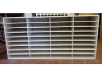 5 FREE Storage/Shelving units. Middle shelving section slides out. Dimensions 120x57x37