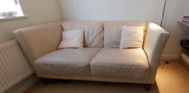 2 seater Leather Sofa Cream