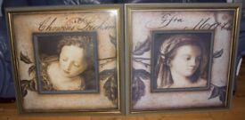 Pair of framed pictires