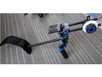 DSLR filming bundle - slider, shoulder rig, camera cage etc
