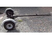 Road Trailer of Dinghy Boat Tender, can also be used as Launchng Trolley