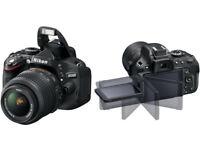 Nikon D5100 Digital SLR Camera with 18-55mm VR Lens Kit (16.2MP) 3 inch LCD