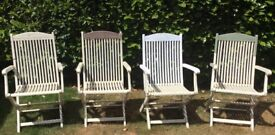 Vintage Deck Chairs Solid Teak Collapsable Poolside Seating - project