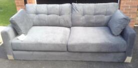 NOW SOLD Brand new with labels 3 seater grey sofa