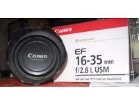 Boxed Canon EF 16-35 f 2.5 L Lens