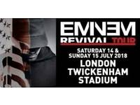 2x eminem tickets for 14th July at twickenham