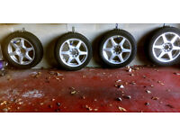 4 x Winter Tyres on 15 inch Alloy Wheels