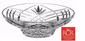 Original Italian Crystal Bowl, Large Fruit Centerpiece - Orchidea 30cm