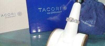 Tacori Epiphany Diamonique DQCZ sterling silver engagement anniversary ring QVC