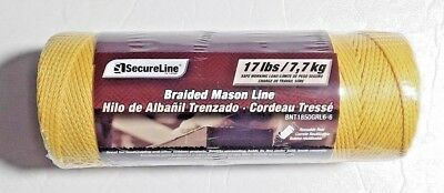 Secureline Braided Mason Line 500 Feet Yellow Bnt 1850grl6-6 Sealed Package