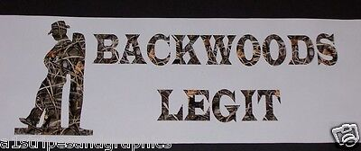Cowboy BACKWOODS LEGIT RealTree M4 Camo Decal Decals Sticker Stickers Hunting