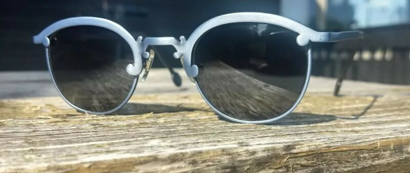 vintage L.A eyeworks 1991 Jal slate blue sunglasses made in Italy clubmaster