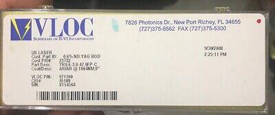 Vloc Ndyag Laser Rod Yr0.6-3.0-47.0fp-c Arar 1064nm New In Box
