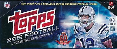2015 TOPPS Complete FOOTBALL 500 Card Factory Sealed Hobby Box SET + 5 Parallel