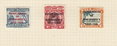 GB-NIUE (MK7107) # 67-69 VF-MH 1935 KING GEORGE V SILVER JUBILEE SET