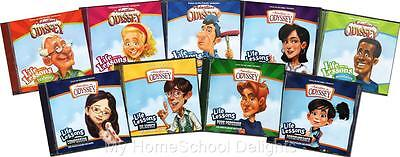 New Adventures in Odyssey LIFE LESSONS Set Lot of 9 Audio CD Focus on the Family