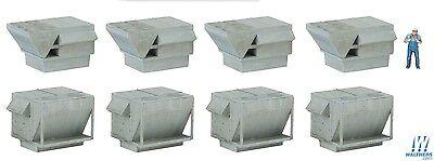 4077 Walthers Cornerstone Roof Details - HVAC Units - Kit - HO Scale