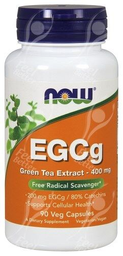 Now Foods EGCg Green Tea Extract x90Vcaps - Vegan Formula ECGC