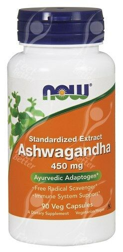 Now Foods Ashwagandha 450mg x90Vcaps - Stress, Anxiety, Fatigue