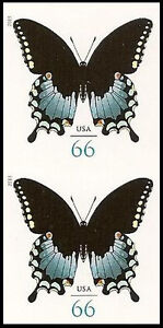 US-4736-Spicebush-Swallowtail-Butterfly-66c-imperf-vertical-pair-MNH-2013