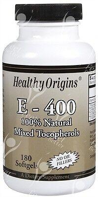Natürliche Tocopherole (Rein Natürlich Vitamin E Gemischte Tocopherole - 400iu X 180 Kapseln)
