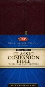 NKJV, Checkbook Bible, Compact, Bonded Leather, Burgundy, Wallet Style, Red...