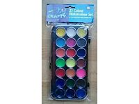 21 Water Colour Set; 10 lots. Car Boot / Surplus Stock