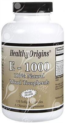 Natürliche Tocopherole (Rein Natürlich Vitamin E Gemischte Tocopherole - 1000 Ie X 120 Tabletten)