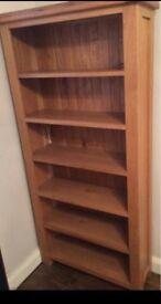 Solid Oak book case Unit