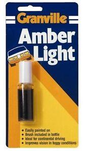 Granville Amber Light Paint For Car & Motorhome Headlamps [0010]